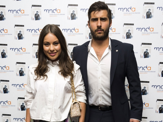 Louise Thompson and Alik Alfus at an event in London