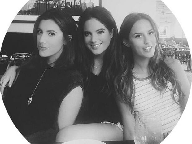 Gabriella Ellis, Binky Felstead and Lucy Watson in LA