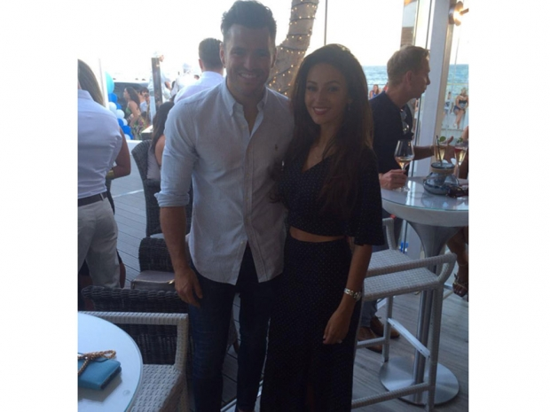 Mark Wright and Michelle Keegan at the opening of Elliott Wright's restaurant
