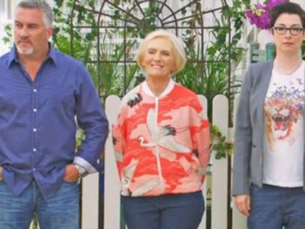 Mary Berry in oriental M&S bomber jacket