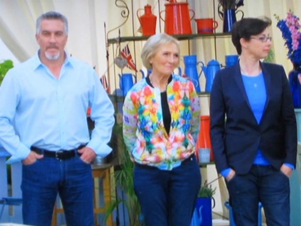 Mary Berry in floral Zara bomber jacket