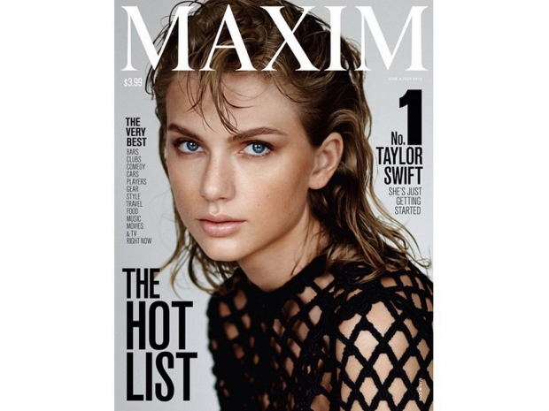 Taylor Swift on the cover of Maxim's June/July issue for 2015