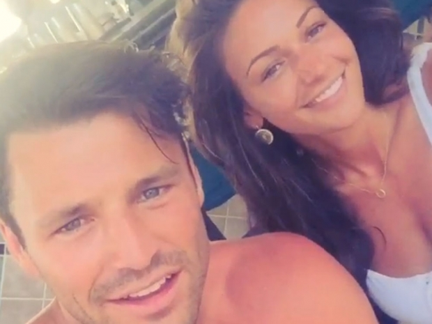 Michelle Keegan and Mark Wright on their honeymoon in the Maldives