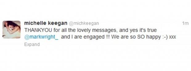 Michelle Keegan's Tweet