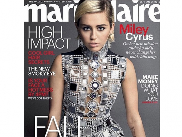 Miley Cyrus Marie Claire cover
