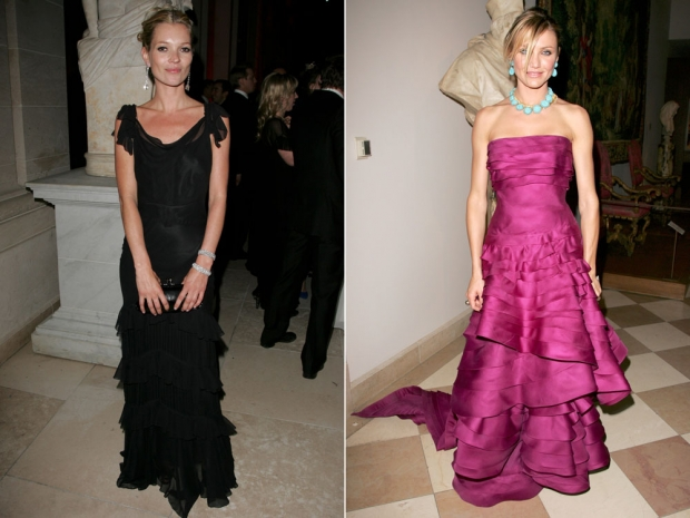Kate Moss and Cameron Diaz at the Met Gala in 2007.