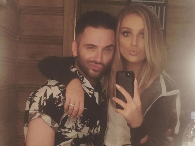 Perrie Edwards and hairdresser Aaron Carlo