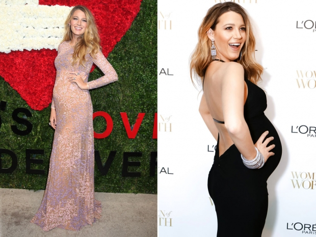 Two of Blake Lively's amazing maternity looks.