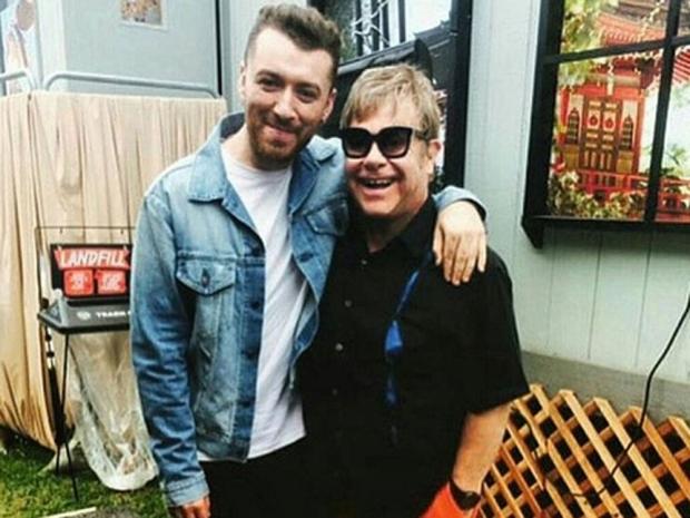 Ícones Sam Smith e Elton John. (Foto: Reprodução / Instagram)