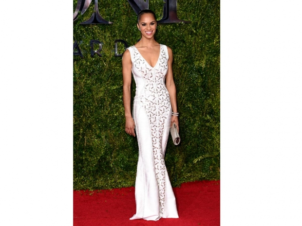 Misty Copeland in a Herve Leger dress on the red carpet