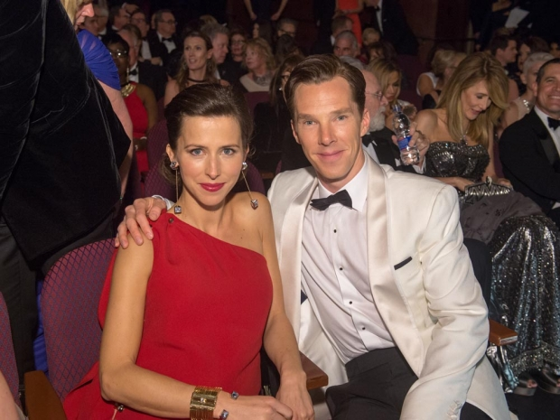 Sophie Hunter with Benedict Cumberbatch at The Oscars