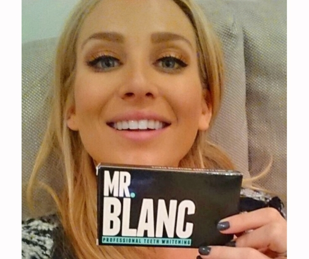 Made In Chelsea's Stephanie Pratt with her Mr Blanc strips