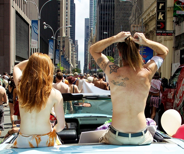 protesters new york topless women
