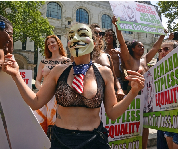 protest Women bare breast