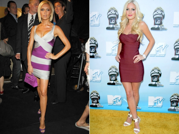 Victoria Beckham and Heidi Montag in the bandage dress.