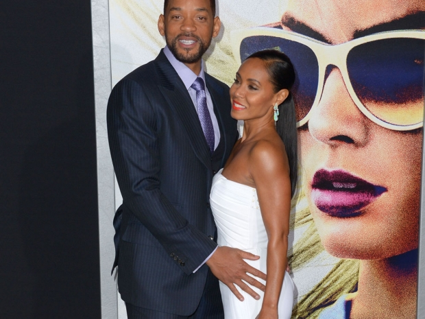 Will Smith and Jada Smith at the Focus premiere