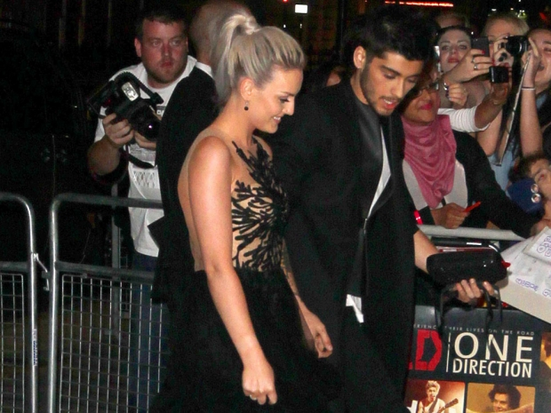 Zayn Malik and Perrie Edwards at the premiere of One Direction's film This Is Us
