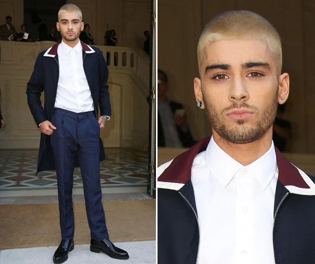 Zayn Malik at the Valentino show at Paris Fashion Week 2015