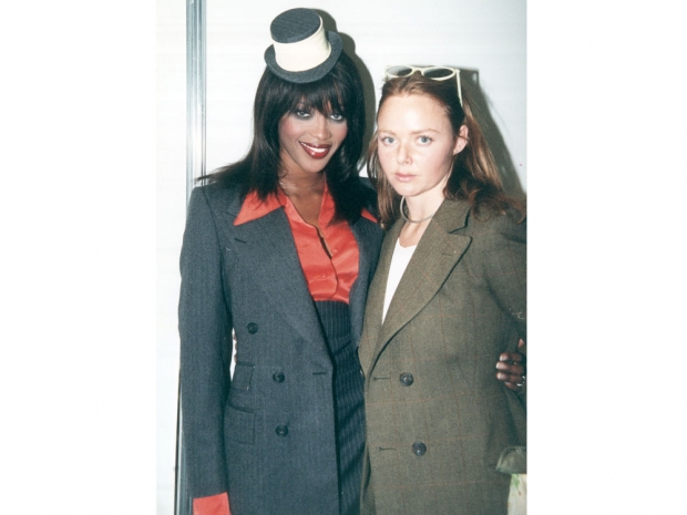 At her first graduate fashion week collection with supermodel Naomi Campbell