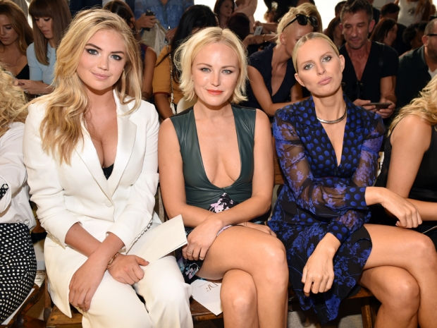 Kate Upton, Malin Akerman and Karolina Kurkova on the front row at DVF