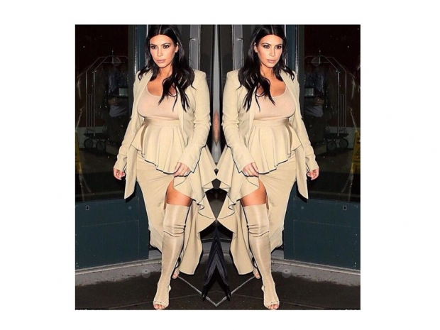 Kim Kardashian posted a photo of herself in this all beige outfit