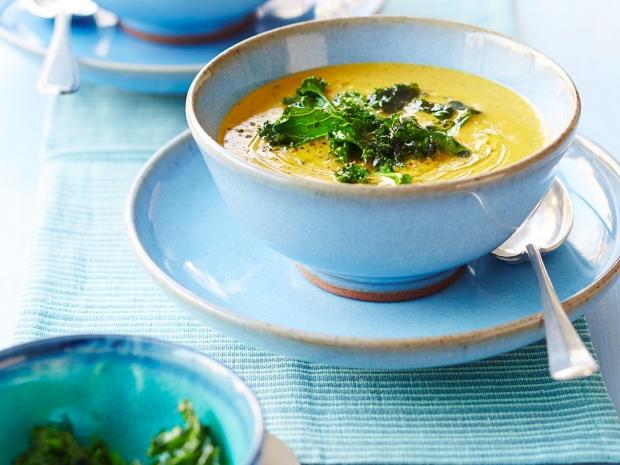 Crispy Kale and Coconut Soup