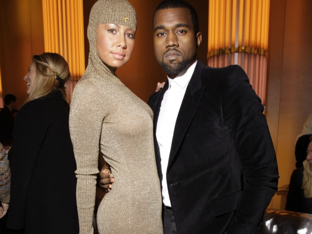 Amber Rose and Kanye West at fashion week
