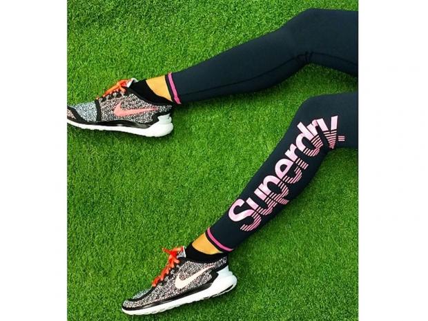 Ashley Roberts loves her new Superdry leggings.