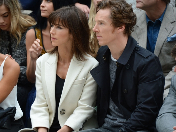 Benedict Cumberbatch and his wife on the front row.
