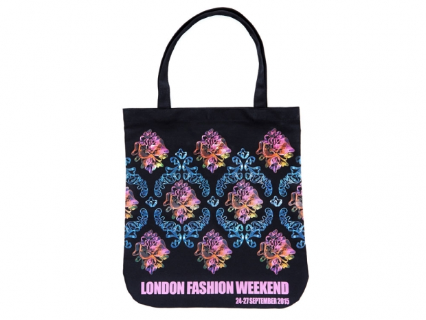 Mary Katrantzou's London Fashion Week tote.