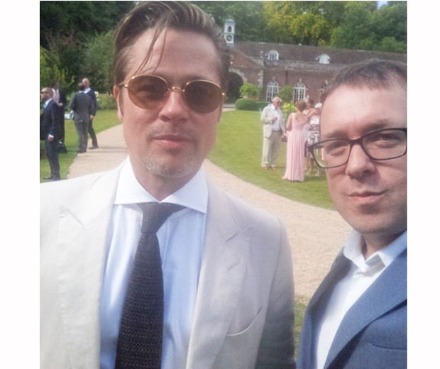 Brad Pitt made a surprise appearance at Guy Ritchie's festival-themed wedding