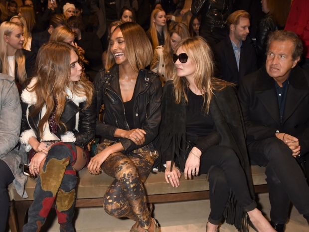 Cara Delevingne, Jourdan Dunn, Kate Moss and Mario Testino