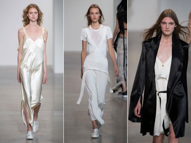 Calvin Klein's sea of sexy slip dresses.