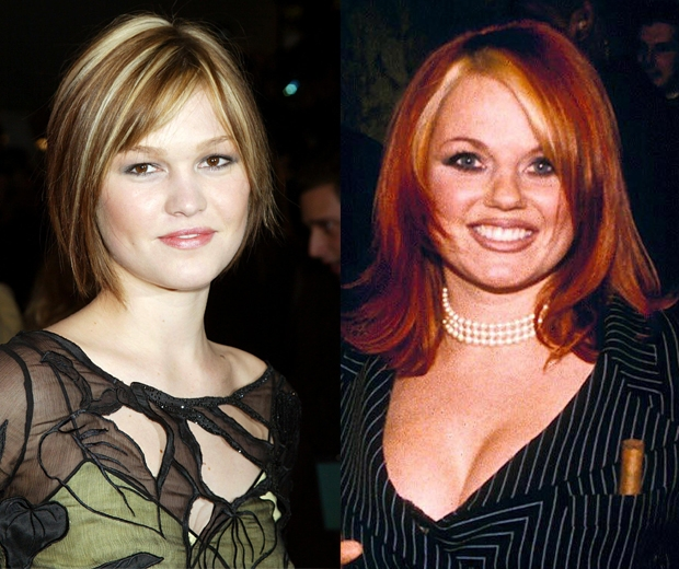 Geri Halliwell and Julia Stiles go for chunky highlights