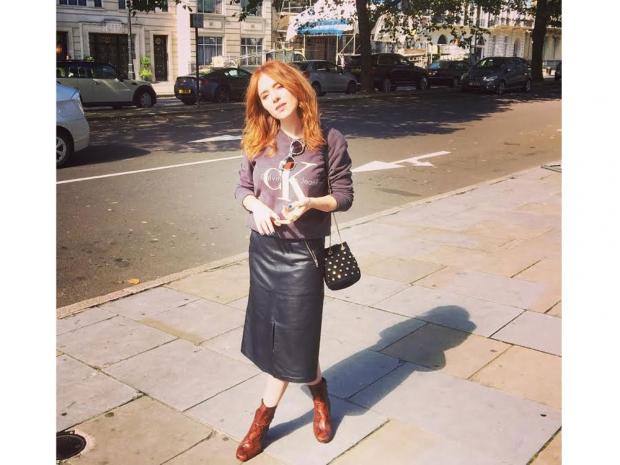 Angela after the Orla Kiely presentation.