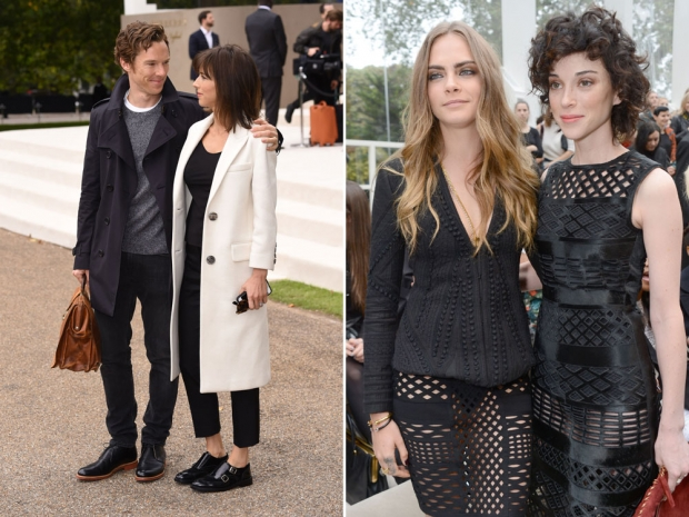 Benedict with Sophie and Cara with St Vincent.