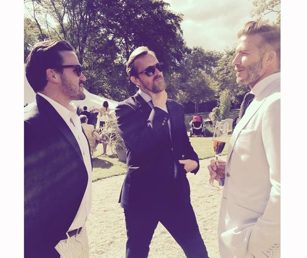 david beckham at guy ritchie wedding