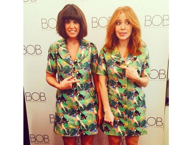 Dawn O'Porter with Angela during London Fashion Week.
