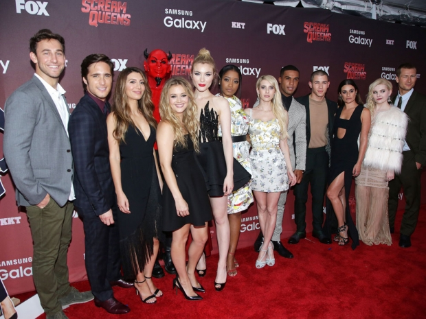 The cast of Scream Queens at the LA premiere