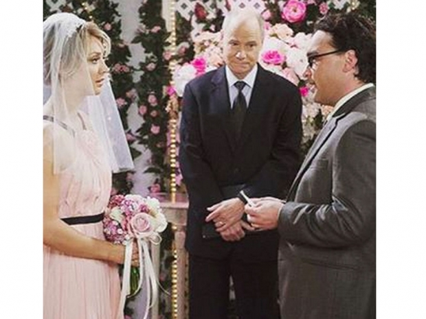 Kaley's character in The Big Bang Theory getting married.