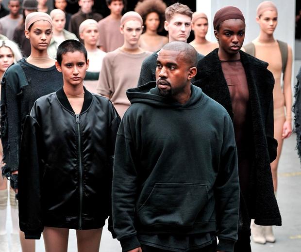 kanye west show fashion week
