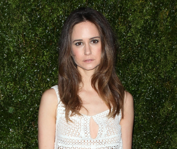 Katherine Waterston in a white dress