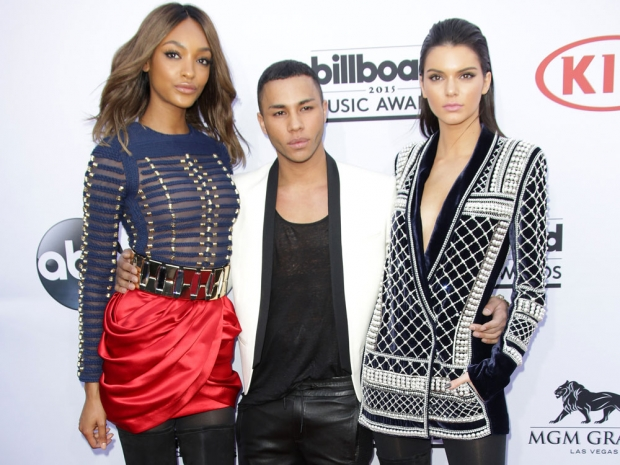 Kendall Jenner, Olivier Rousteing and Jourdan Dunn at the Billboard Awards