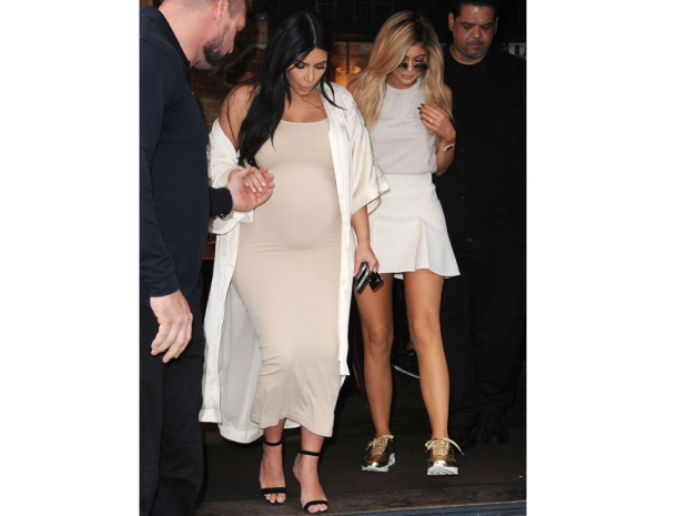 Kylie Jenner and Kim Kardashian at New York Fashion Week