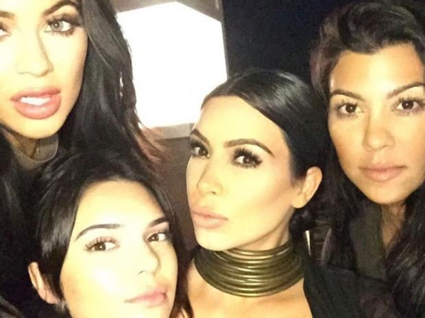 Kim Kardashian and family on Instagram