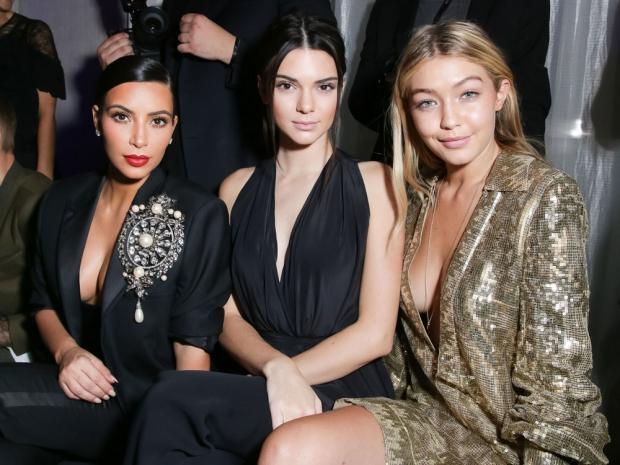Kim Kardashian, Kendall Jenner and Gigi Hadid