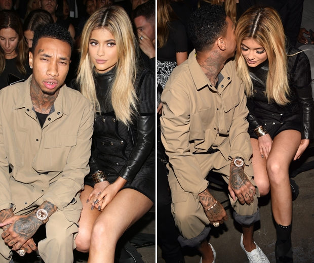 Kylie Jenner and Tyga hit the FROW at Alexander Wang