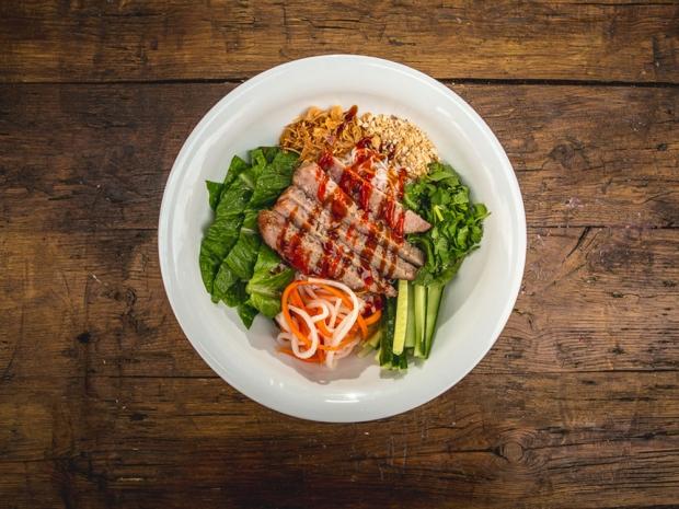 2. Maiora's Bun Nem Nuong – Grilled Honey Pork Rice Vermicelli Salad