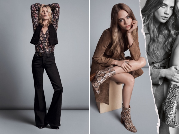 Cara Delevingne and Kate Moss for Mango.