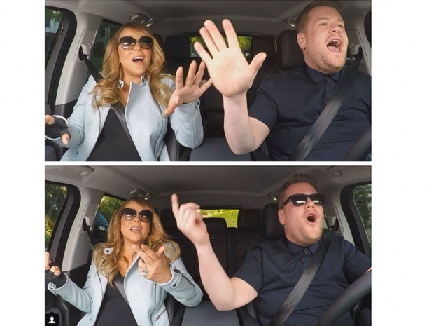 Mariah Carey and James Corden